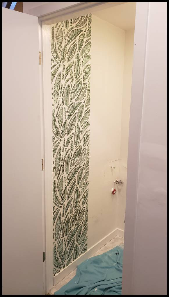 Chicago Logan Square Wallpaper installation. Chicago painter. Painting contractor. Painters. Drywall repair. Water damage