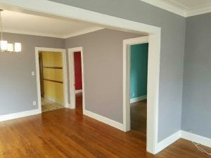 Chicago painter. Painting contractor. West Town. West Loop. Drywall repair. Lincoln Park. Logan Square. Wallpaper. Wrought iron fence. Rust removal. Metal porch. Cabinets refinishing. Drywall water damage repair