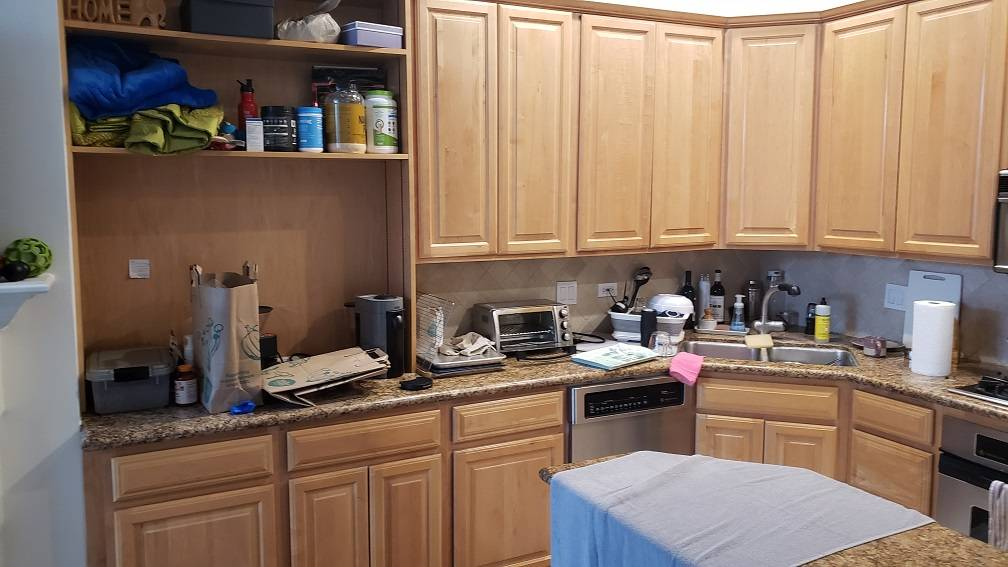 Lincoln Park cabinets refinishing, painting. Chicago painter.