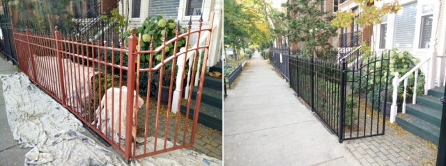 Lincoln Park Front Fence And Cornice Refinishing