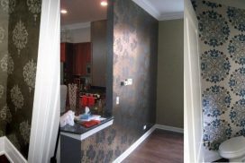 Wallpaper accent wall. Wallcovering Chicago . Chicago painter. West Town. Wicker Park. River North. Lincoln Park